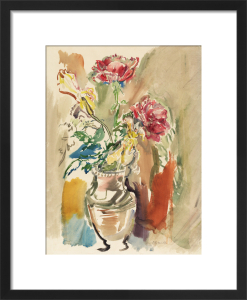 Flower Piece - Roses 2 by Oskar Kokoschka