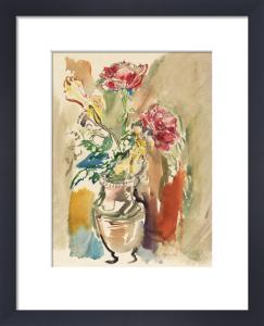 Flower Piece - Roses 2 by Oskar Kokoschka