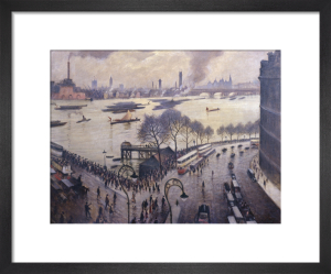 Blackfriars Bridge, London by Christopher Richard Wynne Nevinson