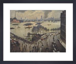 Blackfriars Bridge, London by Christopher Richard Wynne Nevinson