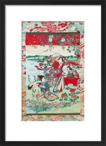 Geishas in a landscape by Ryumei Kaikoko
