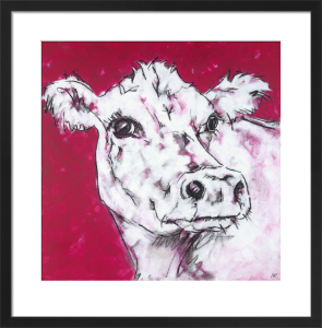 Cow on Red by Nicola King