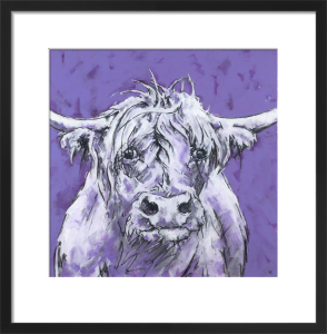 Bull on Purple by Nicola King