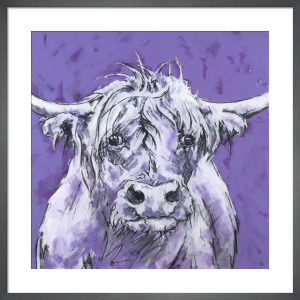 Bull on Purple by Nicola King