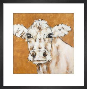 Cow on Orange by Nicola King