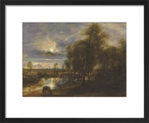 Landscape by moonlight by Peter Paul Rubens