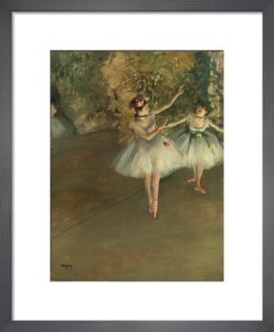 Two dancers on a stage by Edgar Degas