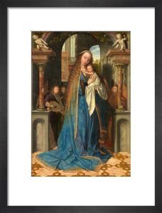 Madonna standing with the Child and angels by Quentin Metsys