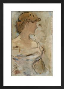 Au Bal - Marguerite de Conflans en Toilette de Bal by Edouard Manet
