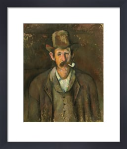 Man with a pipe by Paul Cezanne