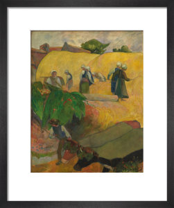 Haymaking by Paul Gauguin