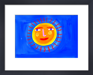 Blue Sky and Orange Sun by Christopher Corr