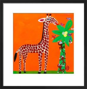 Giraffe and Monkeys by Christopher Corr