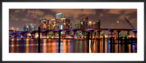 Night View of the Miami skyline by Carsten Reisinger
