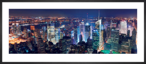 Aerial View of Manhattan at Night by Songquan Deng