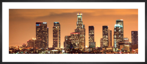 Downtown Los Angeles Skyline at Night by Konstantin Sutyagin