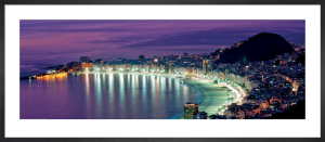 Copacabana Beach at Night, Rio de Janeiro by Catarina Belova