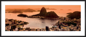 Sugar Loaf and Botafogo Beach at Sunset, Rio de Janeiro by Matej Kastelic