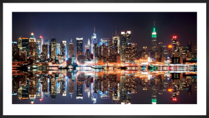 New York Skyline at Night by Songquan Deng