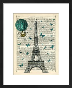 Eiffel Butterflies by Marion McConaghie