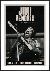 Jimi Hendrix - Copenhagen 1970 by Anonymous