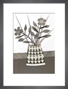 Black & White Patterned Vase by Jane Robbins