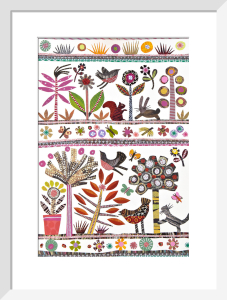 Folk-art Forest by Jane Robbins