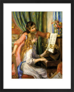 Two Young Girls at the Piano by Pierre Auguste Renoir