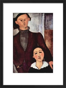 Portrait of Jacques & Berthe Lipchitz by Amedeo Modigliani