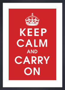 Keep Calm (Red) by Vintage Repro
