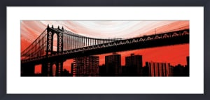 Manhattan Bridge Aura by Erin Clark