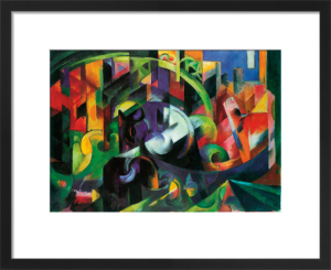 Abstract with Cattle by Franz Marc