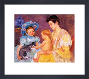 Children Playing with a Cat by Mary Cassatt