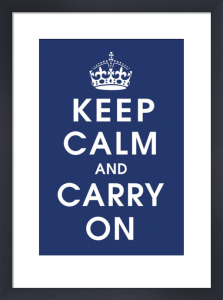 Keep Calm (navy) by Vintage Repro