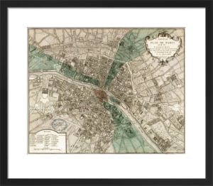 Plan de Paris by Vintage Reproduction