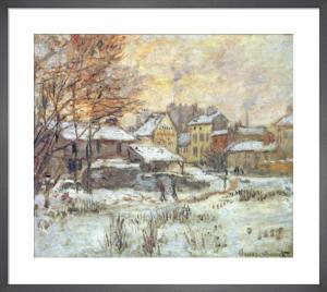 Snow Effect, Sunset by Claude Monet