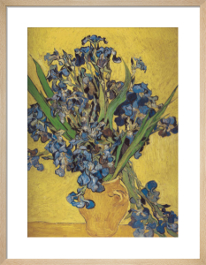 Irises in Vase by Vincent Van Gogh