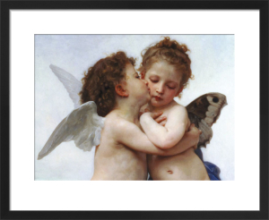 The First Kiss by Adolphe William Bouguereau