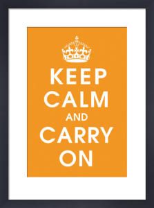 Keep Calm (orange) by Vintage Repro