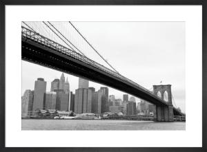 Manhattan from Brooklyn (b/w) by Erin Clark