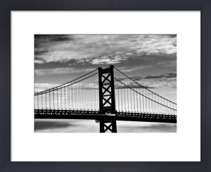 Benjamin Franklin Bridge (b/w) by Erin Clark