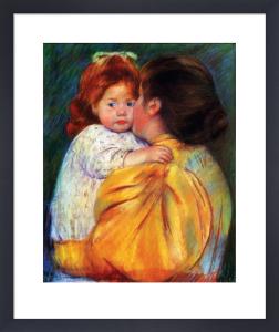 Maternal Kiss 1896 by Mary Cassatt