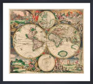 World Map 1689 by Gerrit van Schagen