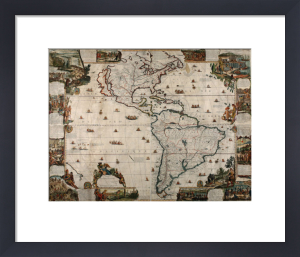 North and South America by Vintage Reproduction