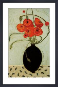 Swirling Poppies by Karen Tusinski