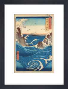 Rough Sea at Naruto in Awa Province by Utagawa Hiroshige
