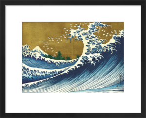 Big Wave (from 100 views of Mt. Fuji) by Katsushika Hokusai