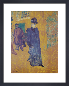 Jane Avril leaves the Moulin Rouge by Henri de Toulouse-Lautrec
