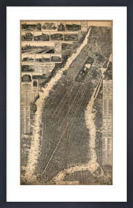 City of New York 1897 by Vintage Reproduction