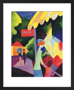 Fashion Store Window by August Macke